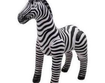 Inflatable Zebra Party Chic Safari Animal Circus