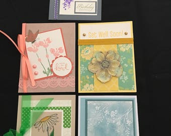 Floral Greeting Cards (Set of 5) Group C