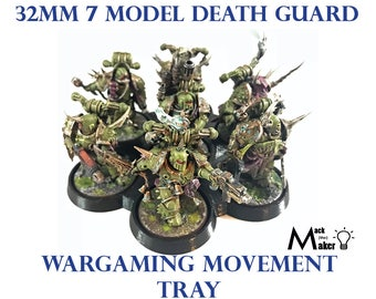 Warhammer 40000 Warhammer 40K Nurgle Death Guard  Movement Tray 32mm 7 Model  Age of Sigmar Chaos Space Marines Wargaming Miniatures