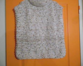 Sweater Poncho with wide neckline size 8
