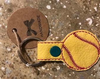 Softball Key Tag