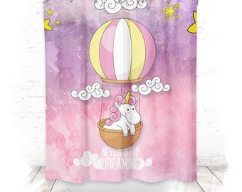 Shower curtain / shower curtain 150cm Unicorn