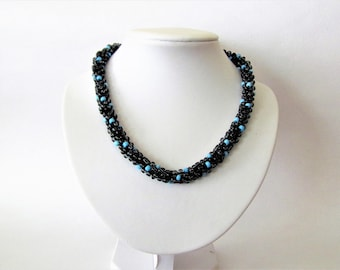 Necklace made out of small beads