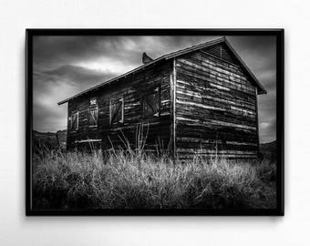 The Old Barn - Black & White Fine Art Print