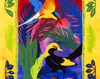 Understory Archival Quality Print, Australian Bird Collage