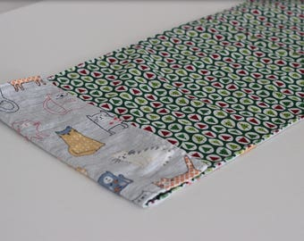 Reversible Christmas and Cat and Dog table runners