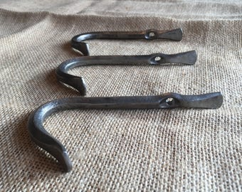 Heavy duty hooks hand forged