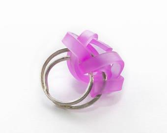 Creative handmade 925 Silver ring purple