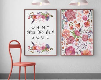 DIGITAL DOWNLOAD + Bless the Lord oh my soul + Printable Art + Wall Decor