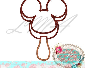 Emoji Mister Mouse Ice Cream Pop Mickey Applique Design Machine Embroidery Digital Download Design