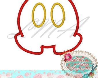 Emoji Mister Mouse Pants Mickey Applique Design Machine Embroidery Digital Download Design