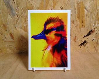 Duck Selfie Greeting Card - Elizabeth / 7x5 / Blank Inside