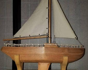 Handcrafted Wooden Model Boats