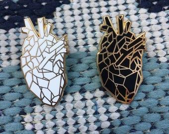 Geometric Heart Hard Enamel Pin
