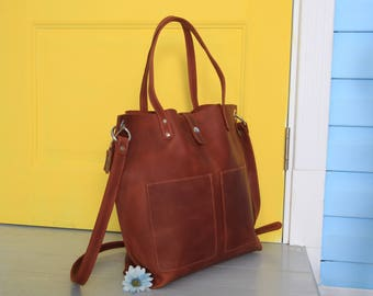 leather tote bag etsy