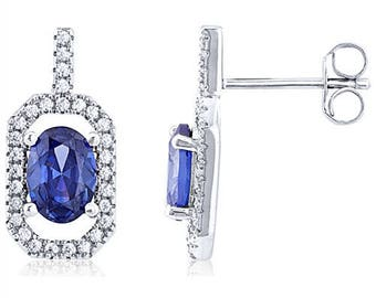 Silver Earrings With Micro Set Cubic Zirconia (ez815b)