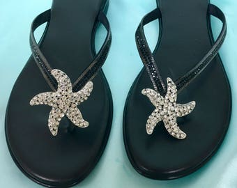 Beach Wedding Jewelry, Summer Party Jewelry, Summer Wedding Jewelry, Destination Wedding Jewelry, Starfish Shoe Clips