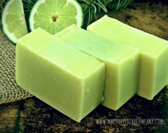 Pine and Lime Aloe Vera Bar Natural Handmade Soap