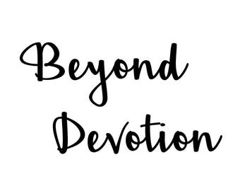 Beyond Devotion E-Gift Certificate