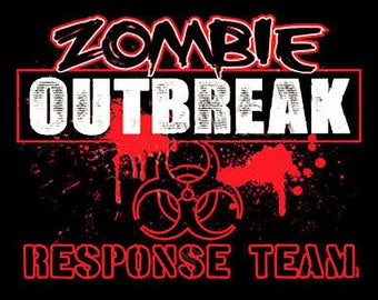 Zombie Outbreak Response Team Halloween New Shirt Various Sizes and Colors Available