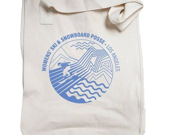 Snowboarder Canvas Tote Bag