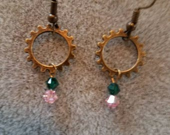 Steampunk 1.5 inch earrings
