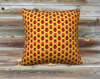Ladybugs throw pillow cover
