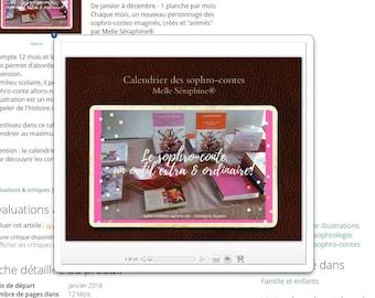 Wall calendar - Sophro Tales (illustrations) Miss Séraphine®
