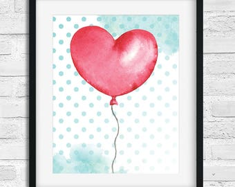 Display decorative heart balloon