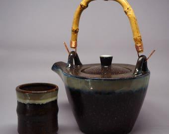 Ceramic 'Kohi' Teaset (teapot with 2 cups)