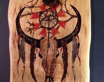Longhorn Steer Skull/Wall Art/Skull/Rustic/Home Decor/Western
