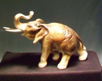 Royal Dux Elephant Figurine