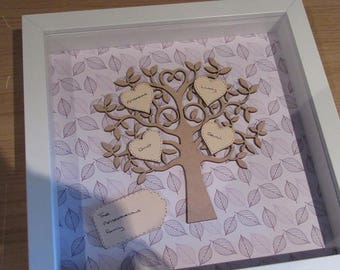 Personalised Family Tree - Handcrafted - Perfect for Gifts/Birthdays/Weddings