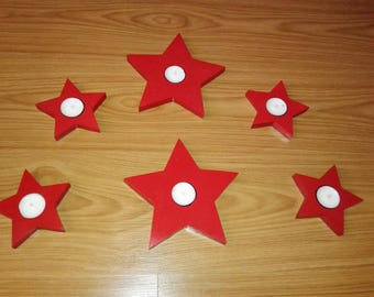 Star Candle Holders for Tea Lights