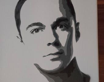 Sheldon big bang stencil