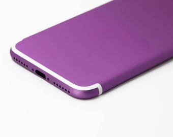 iPhone 7 Purple with White Lines