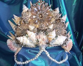 """Mermaid Crown """"Goddess"""" - weddings, festivals, parties"""