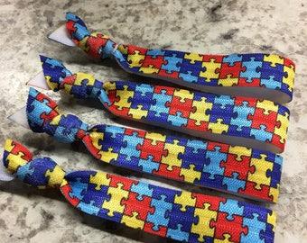 100 Autism hair ties