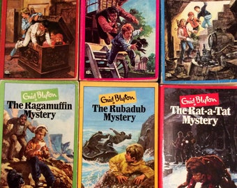 Enid Blyton Mystery book series, set of six vintage paperbacks.