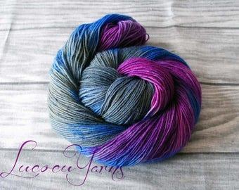 "Hand-dyed sock yarn 4 x 100 g ""Galaxy"""