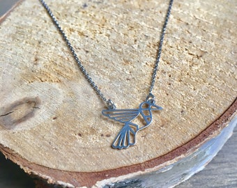 Geometric Hummingbird Necklace