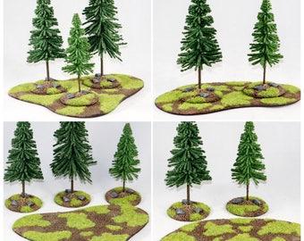 2 Pk Wargaming Forest/ Woods, Gaming Terrain, Tabletop