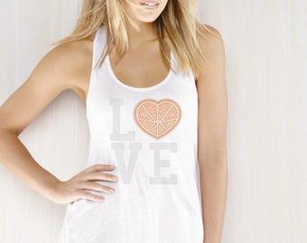 Love Basketball heart Rhinestone Iron on Transfer