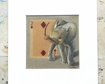 ELEPHANT.12. 20X20cm