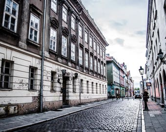 Poland Picture / Europe Picture / Poznan / Poland Photography / Europe digital print download / Digital download / Street / Cobblestone