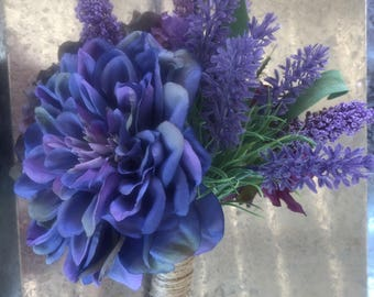 Purple/ light purple/ dark purple floral bouquet