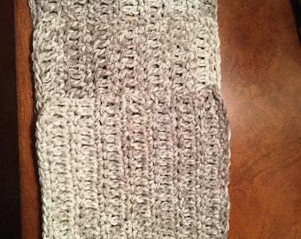 Crocheted grey washcloths(3)