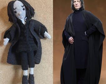 Professor Severus Snape (Alan Rickman)  [Harry Potter Crochet/Amigurumi Doll] Handmade Personalised Creative Gift