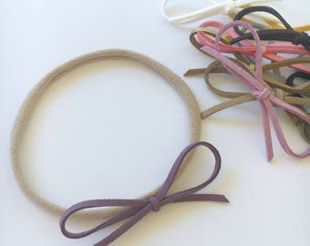 One Dainty Bow Headband for babies, baby gift.
