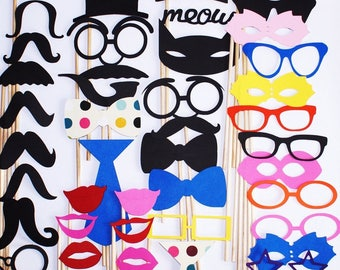 Fun Photo Booth Props - For Any Event - Great Gift Idea